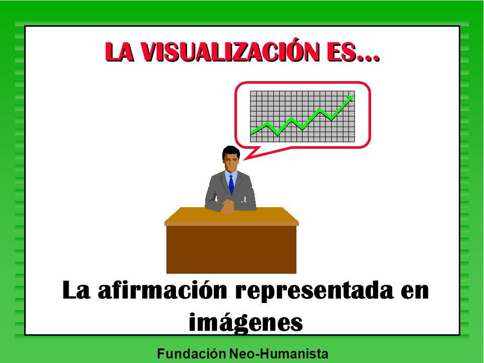 La afirmación representada en imágenes