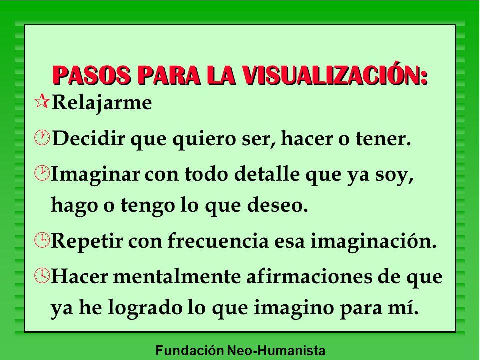 PASOS PARA LA VISUALIZACIÓN: