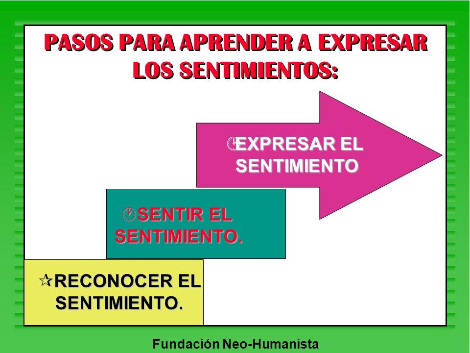 PASOS PARA APRENDER A EXPRESAR LOS SENTIMIENTOS:
