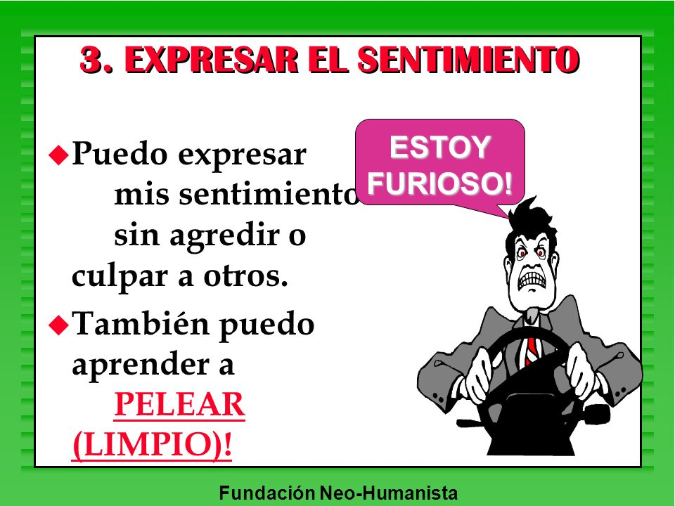 3. EXPRESAR EL SENTIMIENTO