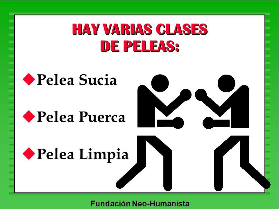 HAY VARIAS CLASES DE PELEAS: