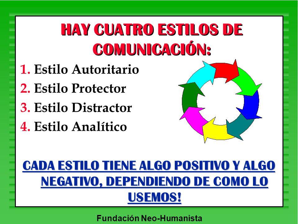 HAY CUATRO ESTILOS DE COMUNICACIÓN: