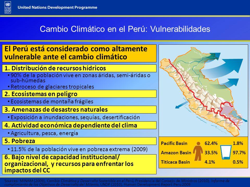 Cambio Climático en el Perú: Vulnerabilidades