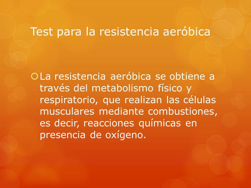 Test para la resistencia aeróbica