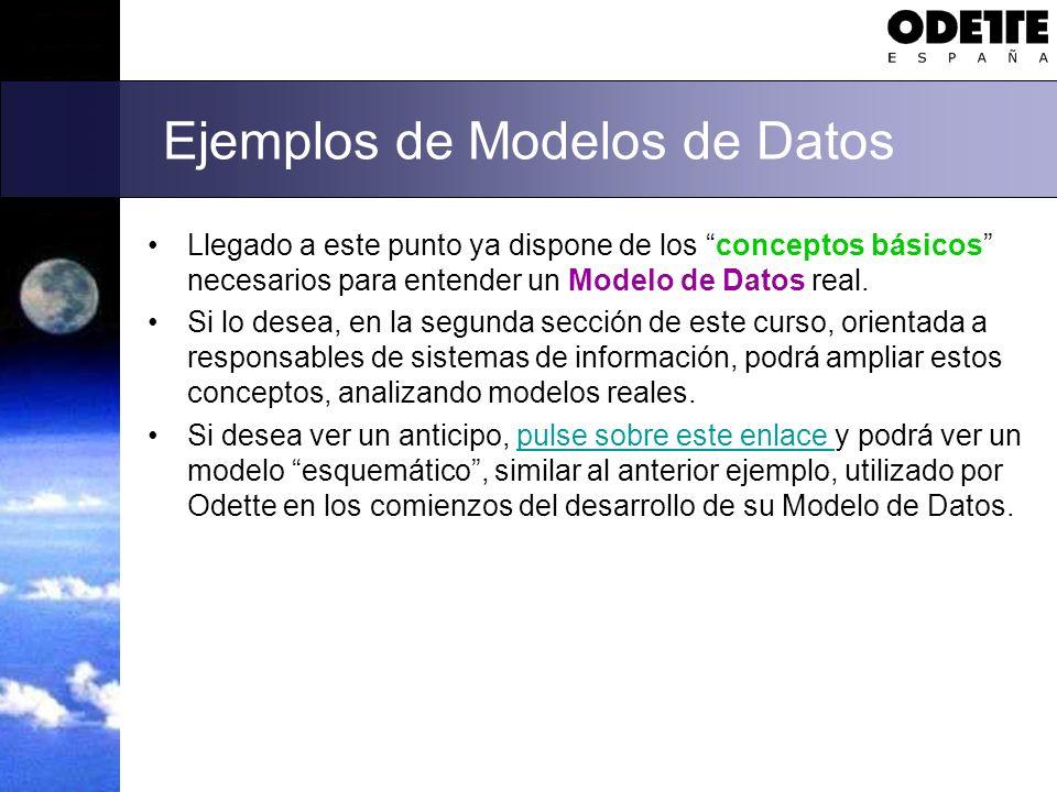 Ejemplos de Modelos de Datos