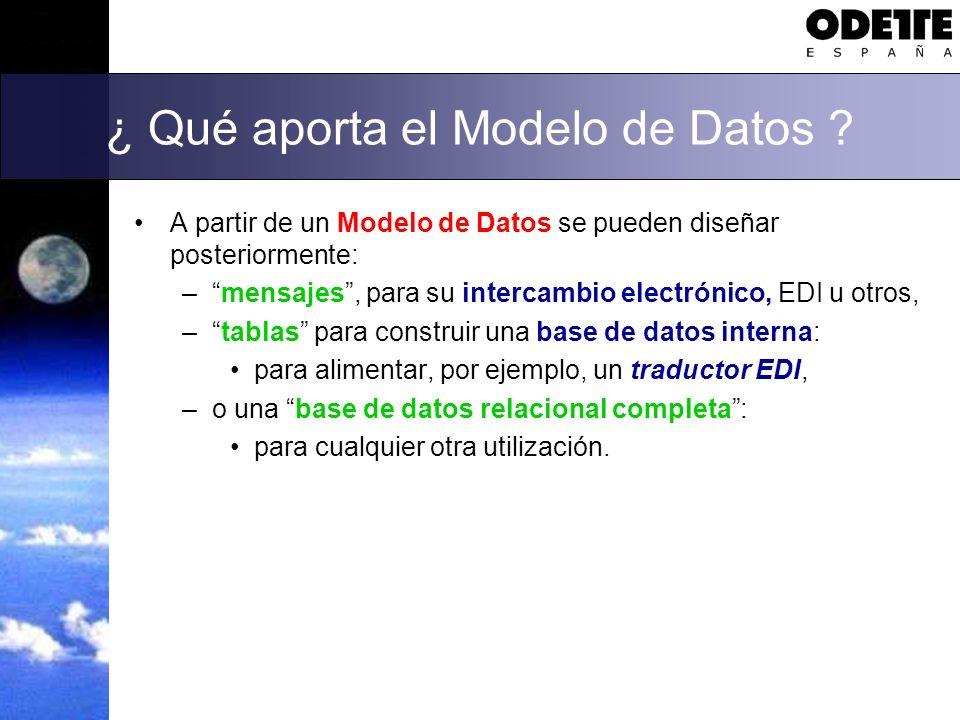 ¿ Qué aporta el Modelo de Datos