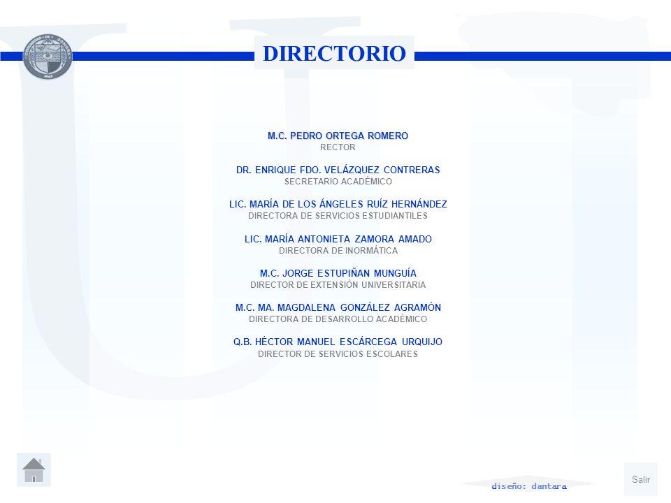 DIRECTORIO M.C. PEDRO ORTEGA ROMERO