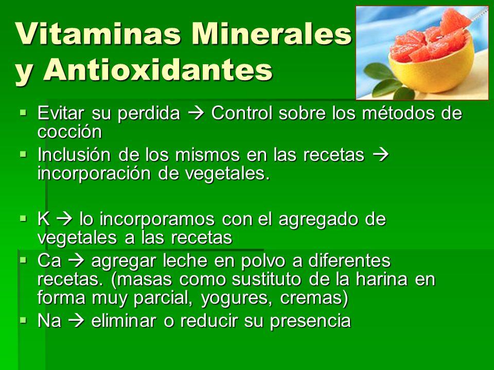 Vitaminas Minerales y Antioxidantes