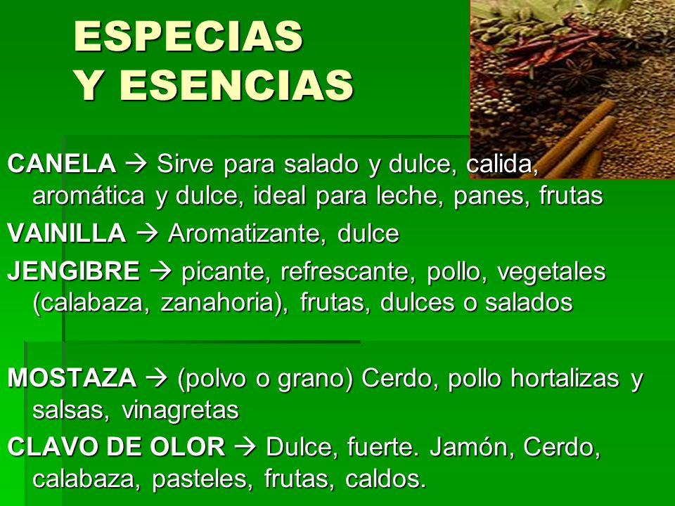 ESPECIAS Y ESENCIAS CANELA  Sirve para salado y dulce, calida, aromática y dulce, ideal para leche, panes, frutas.