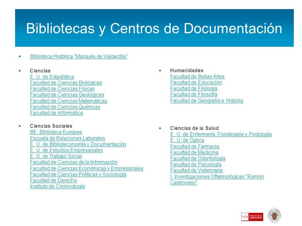 Bibliotecas y Centros de Documentación