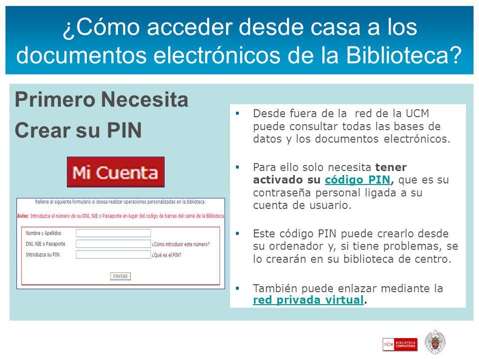 ¿Cómo acceder desde casa a los documentos electrónicos de la Biblioteca