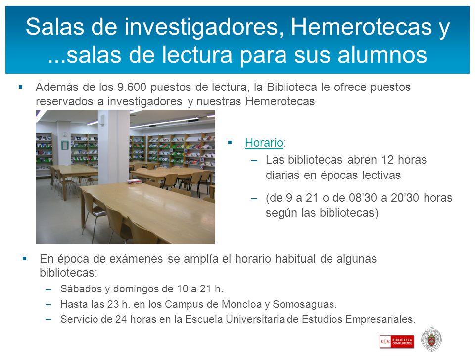 Salas de investigadores, Hemerotecas y