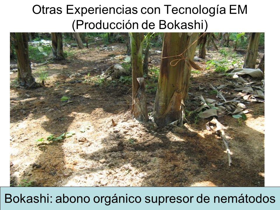 Otras Experiencias con Tecnología EM (Producción de Bokashi)