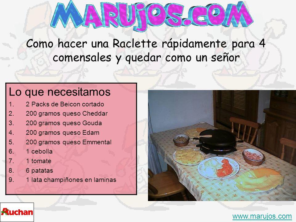 Como hacer una Raclette rápidamente para 4 comensales y quedar como un señor