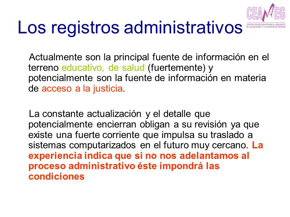 Los registros administrativos