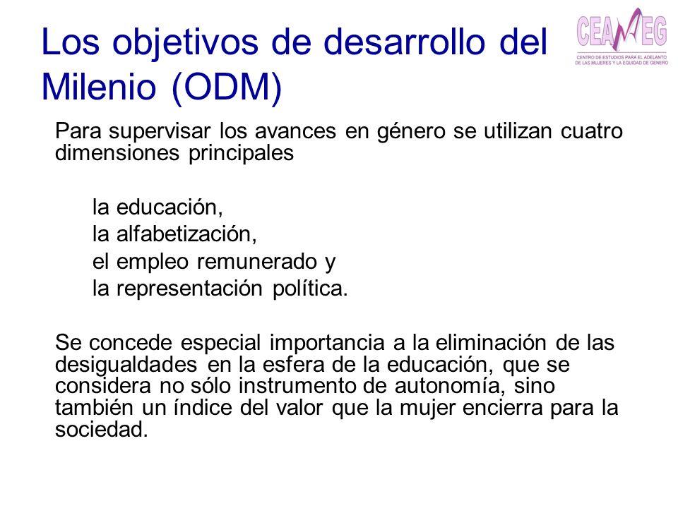 Los objetivos de desarrollo del Milenio (ODM)