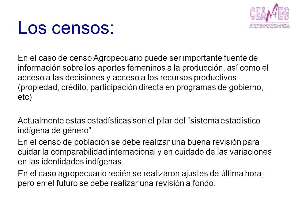 Los censos: