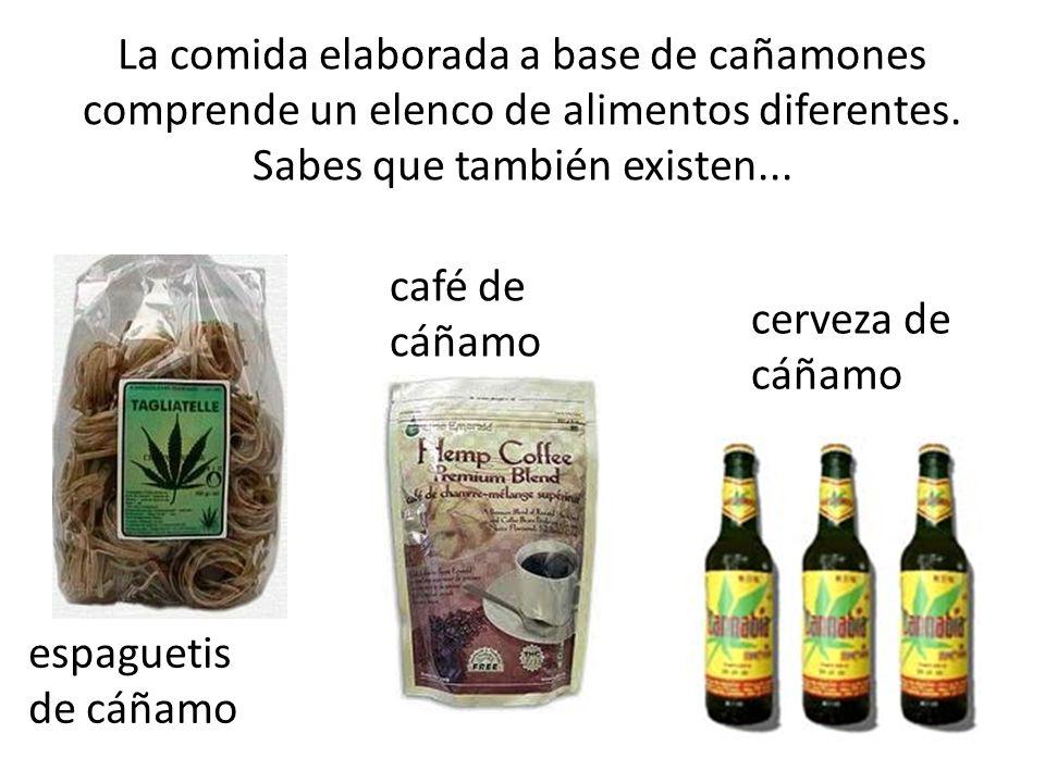 La comida elaborada a base de cañamones comprende un elenco de alimentos diferentes. Sabes que también existen...