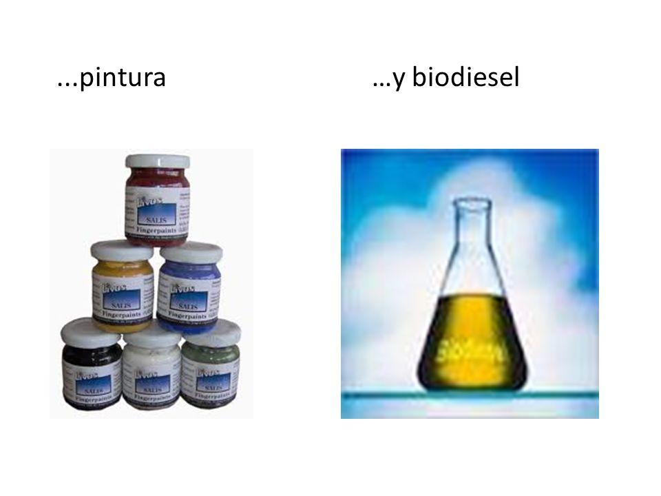 ...pintura …y biodiesel