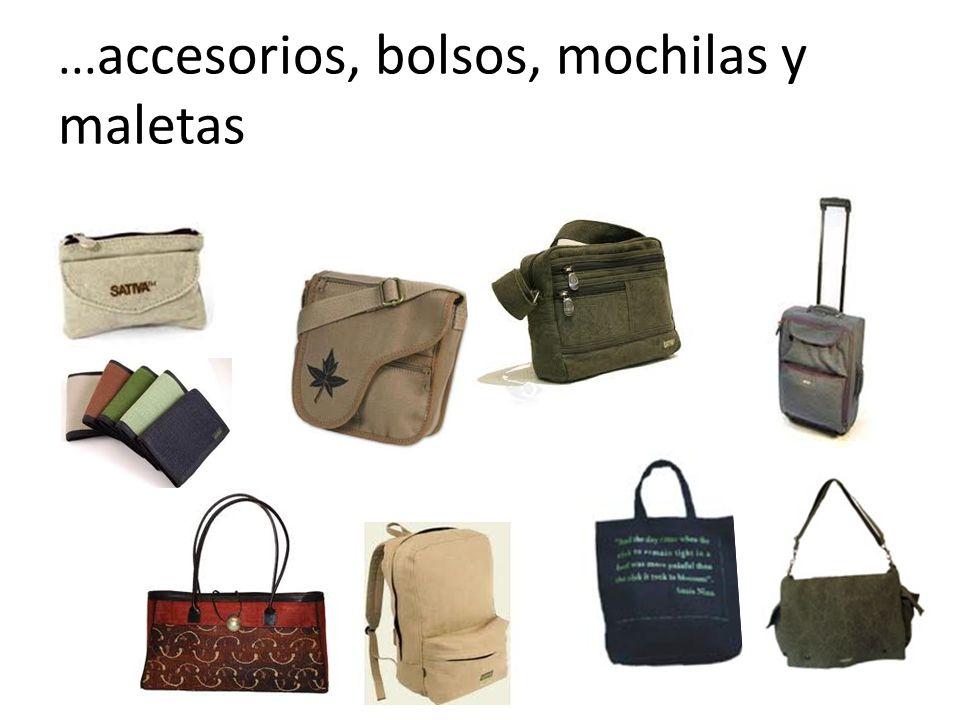 ...accesorios, bolsos, mochilas y maletas