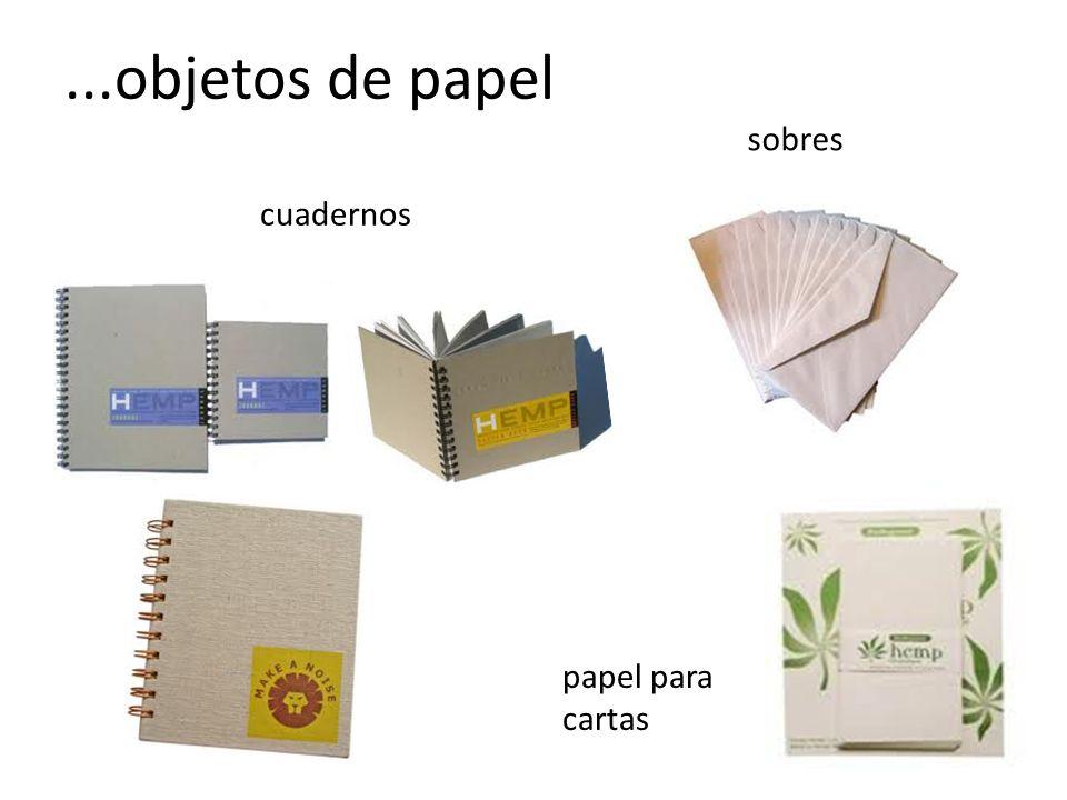 ...objetos de papel sobres cuadernos papel para cartas