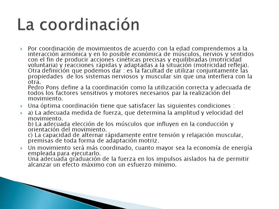 La coordinación