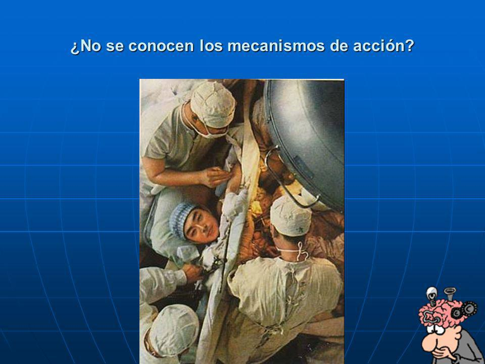 ¿No se conocen los mecanismos de acción
