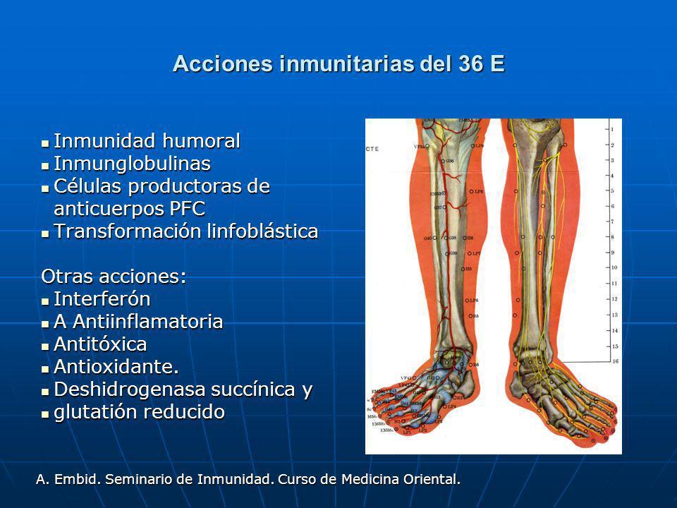 Acciones inmunitarias del 36 E