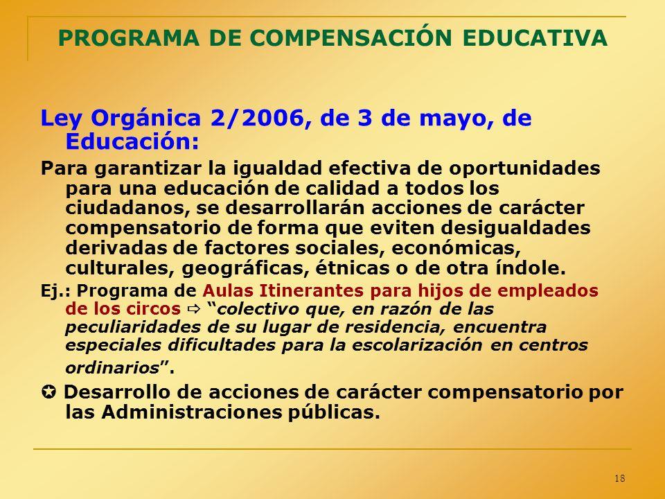 PROGRAMA DE COMPENSACIÓN EDUCATIVA