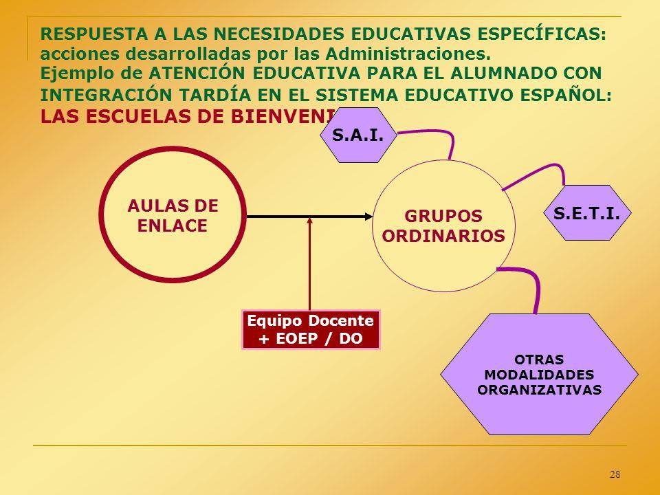 S.A.I. AULAS DE ENLACE GRUPOS ORDINARIOS S.E.T.I.