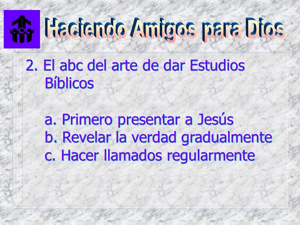 2. El abc del arte de dar Estudios Bíblicos