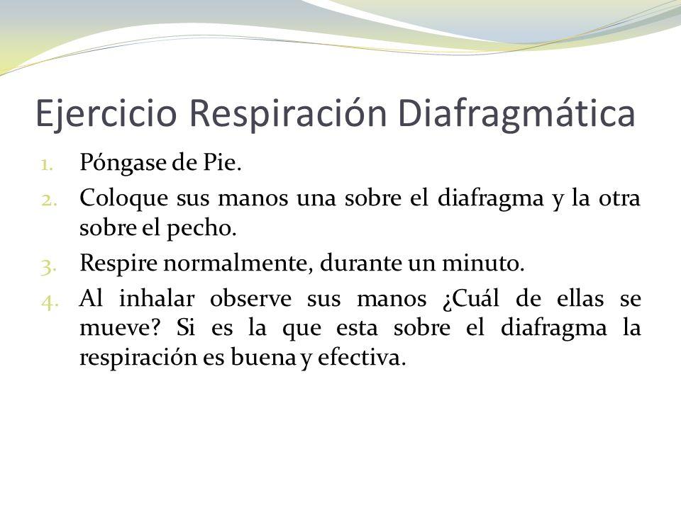 Ejercicio Respiración Diafragmática