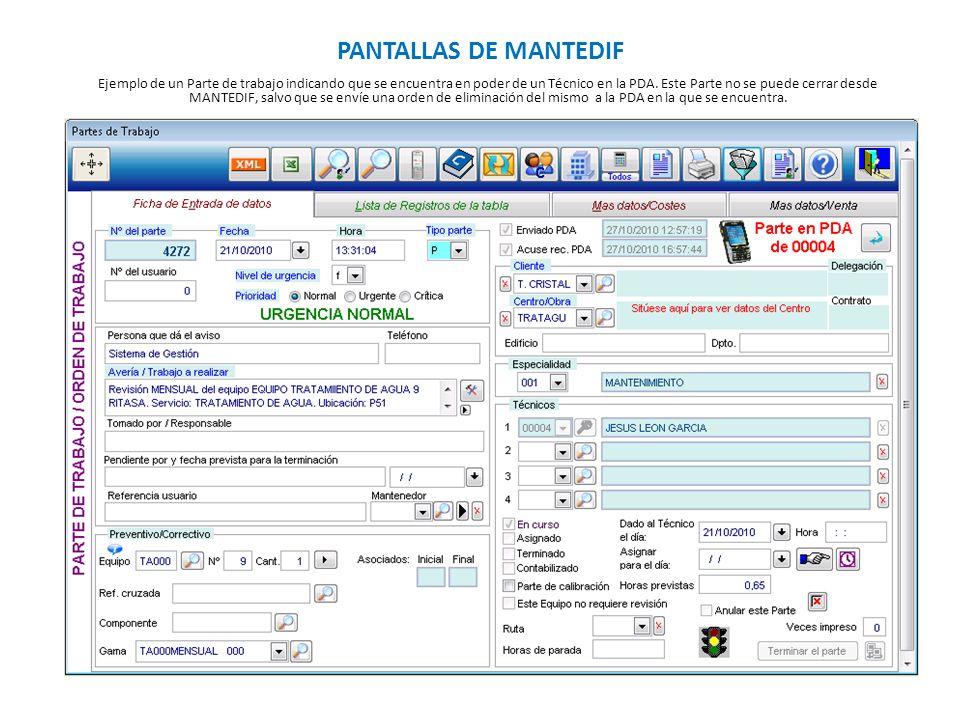 PANTALLAS DE MANTEDIF