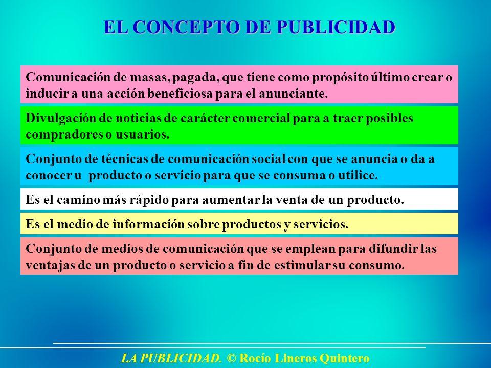 LA PUBLICIDAD. © Rocío Lineros Quintero