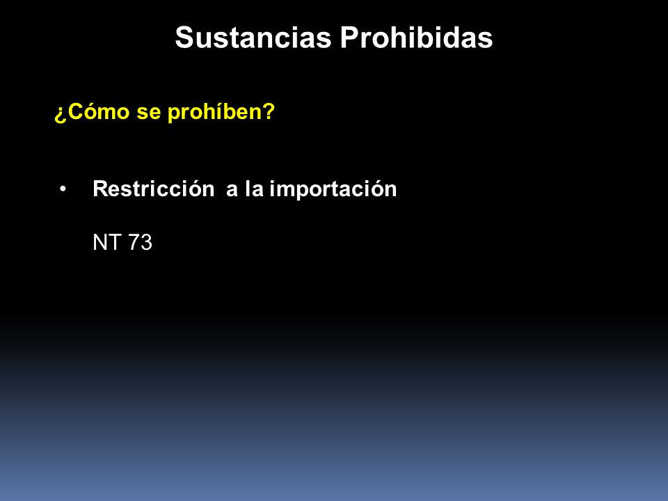 Sustancias Prohibidas