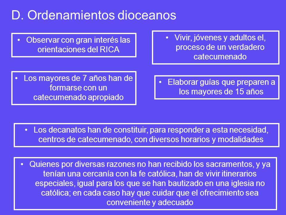 D. Ordenamientos dioceanos