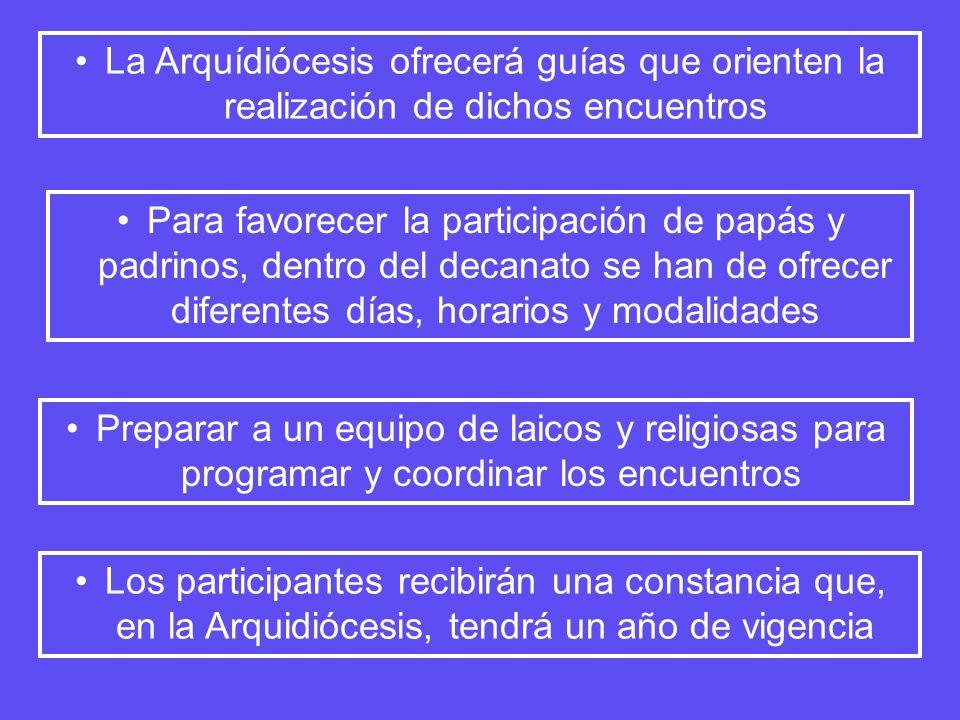 La Arquídiócesis ofrecerá guías que orienten la realización de dichos encuentros