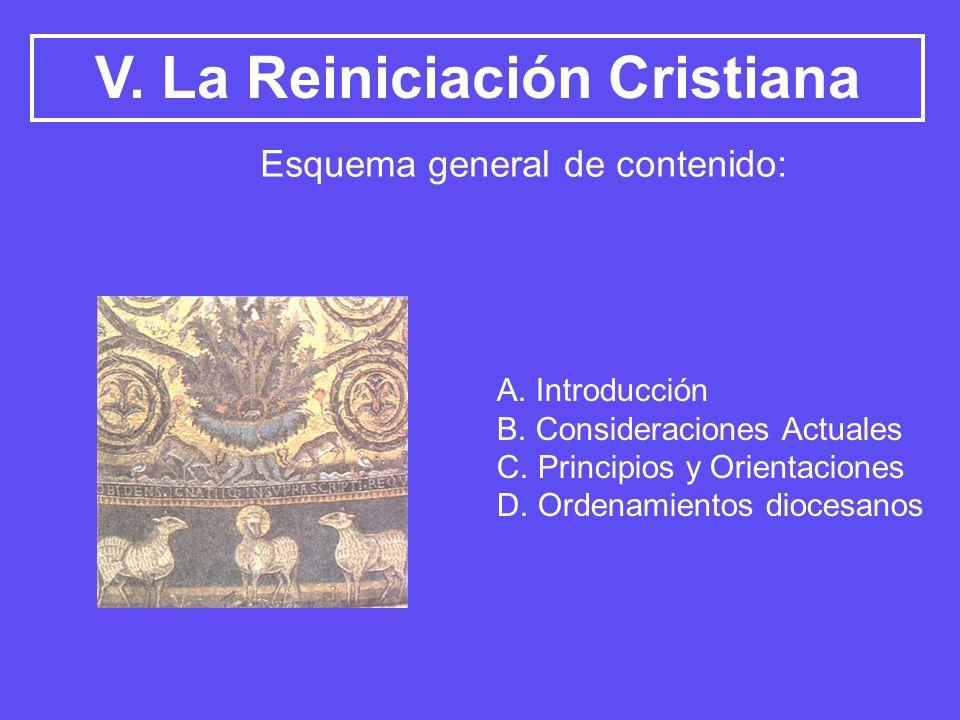 V. La Reiniciación Cristiana