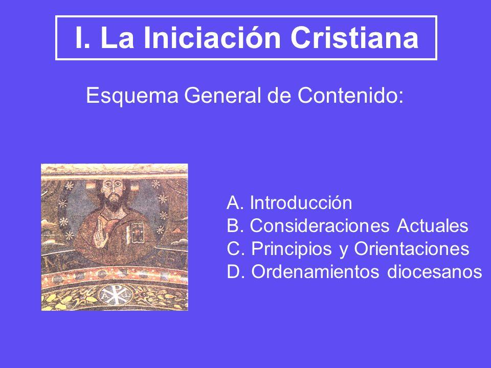 I. La Iniciación Cristiana