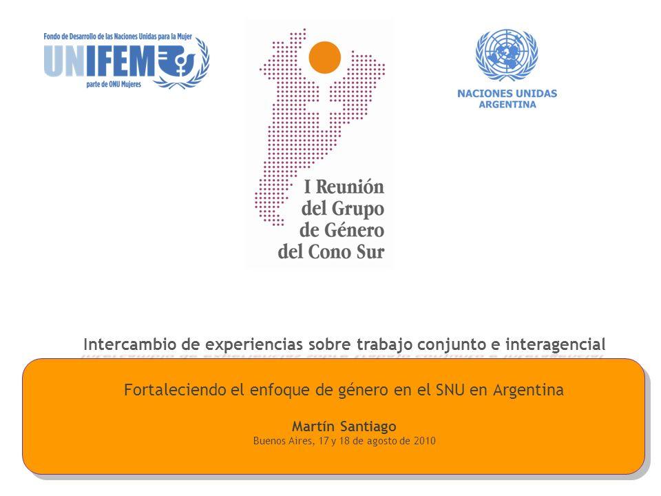 Intercambio de experiencias sobre trabajo conjunto e interagencial
