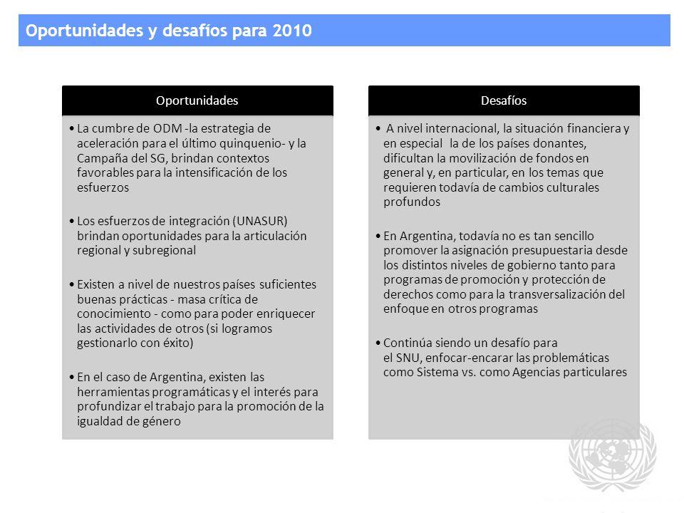 Oportunidades y desafíos para 2010