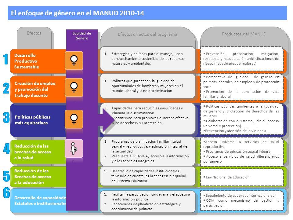 El enfoque de género en el MANUD 2010-14