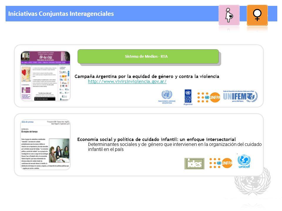 Iniciativas Conjuntas Interagenciales