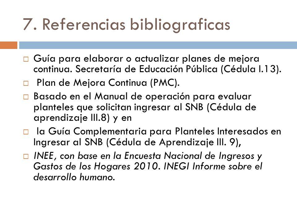 7. Referencias bibliograficas