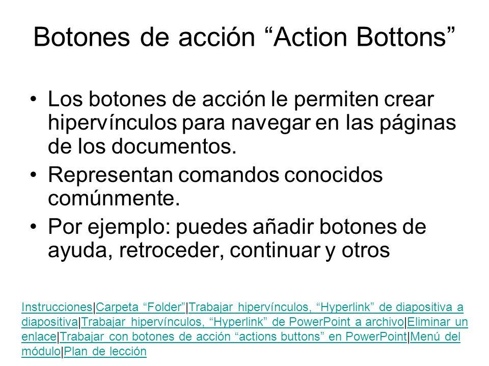 Botones de acción Action Bottons