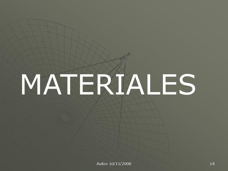 MATERIALES Aviles 10/11/2008
