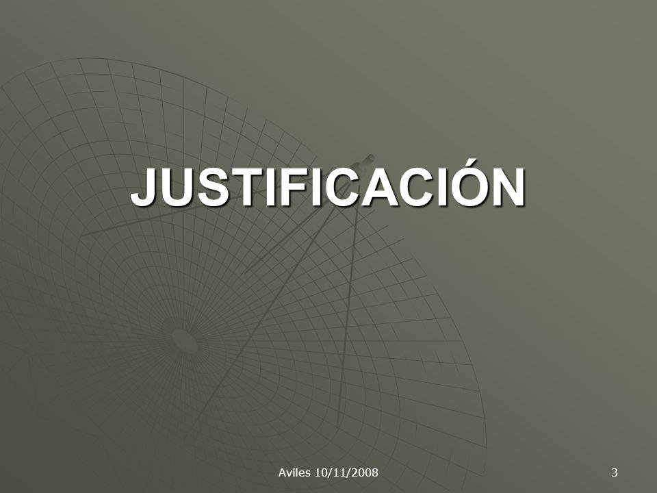 JUSTIFICACIÓN Aviles 10/11/2008