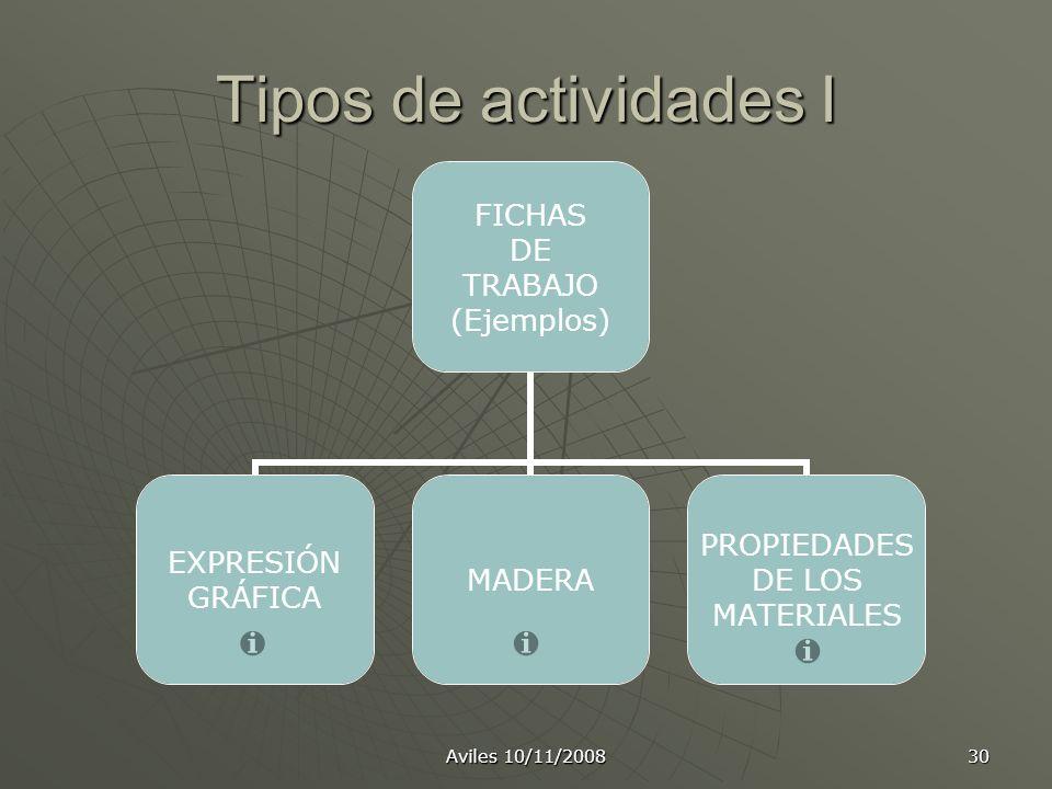 Tipos de actividades I