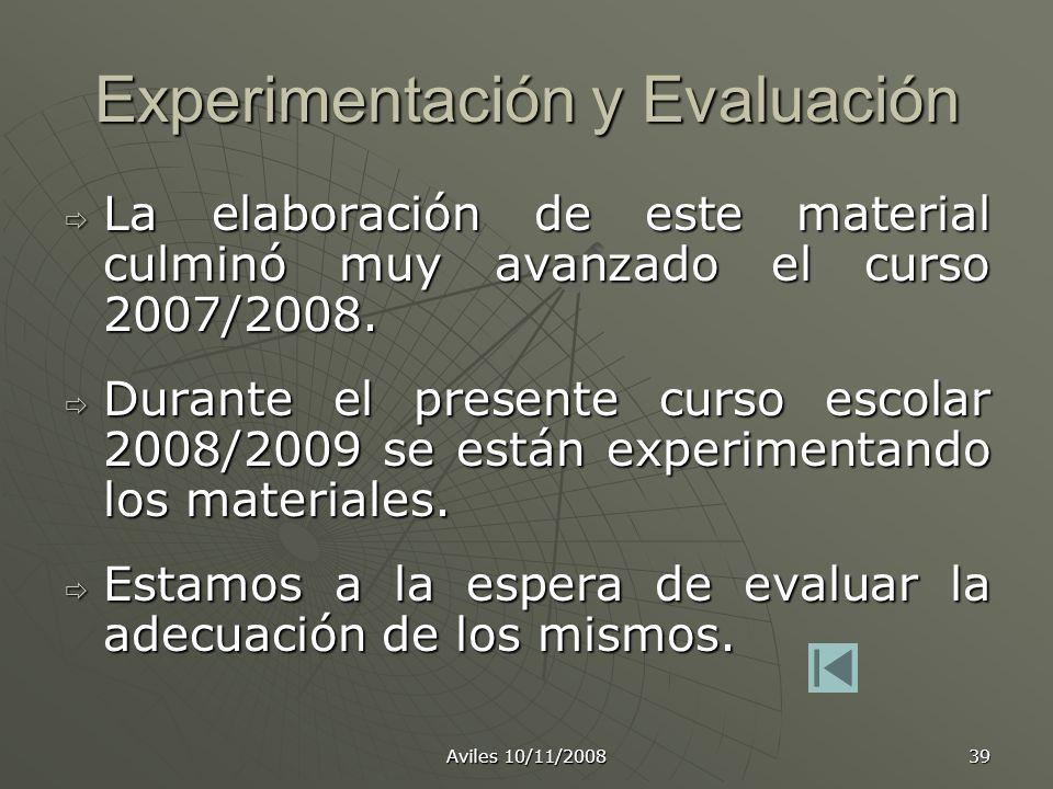 Experimentación y Evaluación