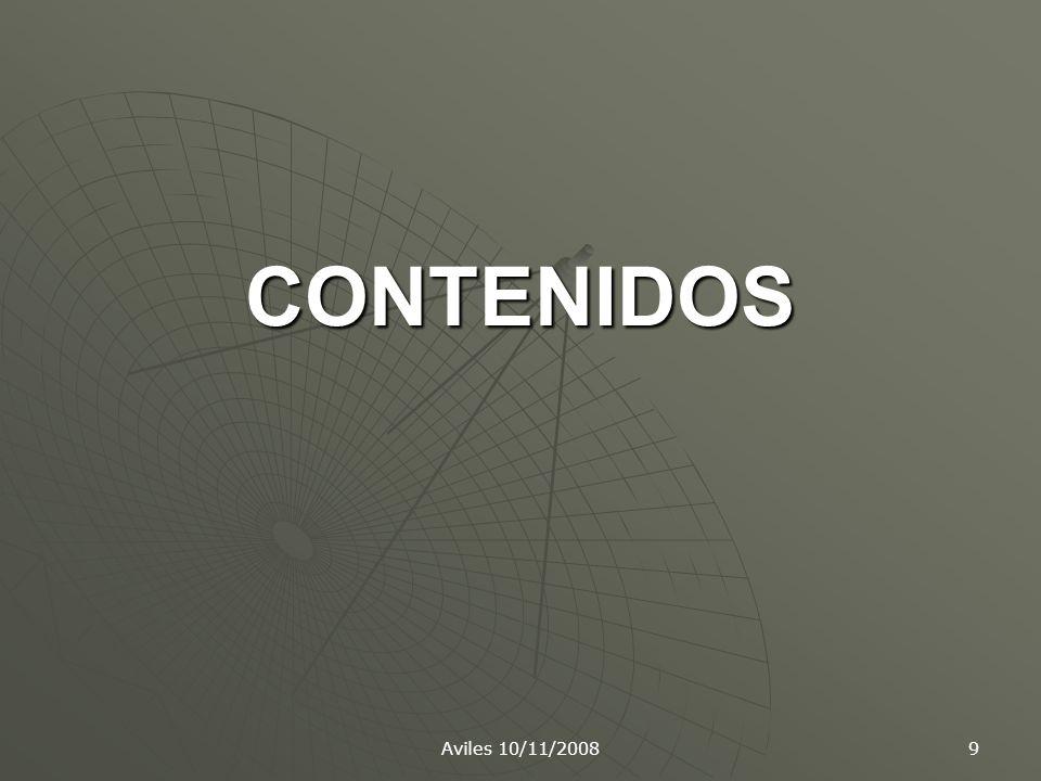 CONTENIDOS Aviles 10/11/2008